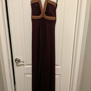 SKY Dress w/ Leather Accents